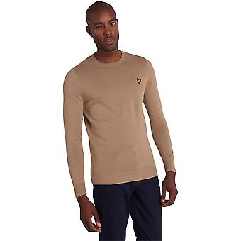 Lyle & Scott Crew Neck Cotton Merino Jumper - Sand Storm