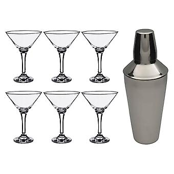 Rink Drink Martini Cocktail Shaker Set with Glasses