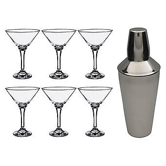 Rink Drink Martini Cocktail Shaker Set med glasögon