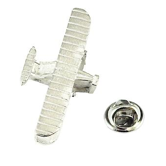 Ties Planet Wright Brothers Flyer Biplane Pewter Anglais Made Revers Pin Badge