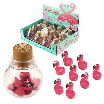 Fun Tropical Flamingo Eraser Set X 1 Pack