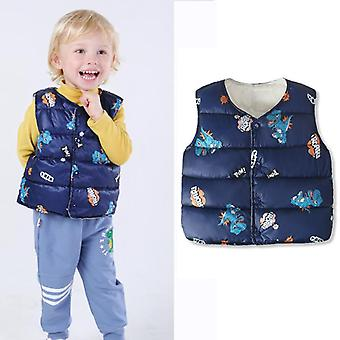Newborn Baby Vest Jackets Outerwear Coat Flower Print Girl Padded Warm Winter Waistcoat