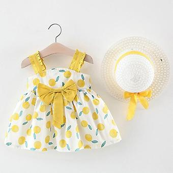 Girls Dresses With Hat -clothes Sets