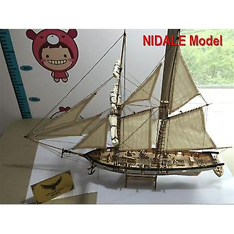 Hobby Ship Model Kits, Halcon 1840 Cnc Brass Cannons Luxe Sailboat Model