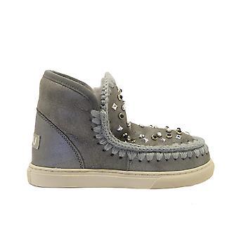 Mou Eskimosneakersmixe Women's Grey Leather Ankle Boots