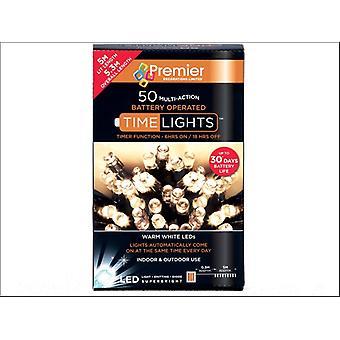 Premier Decorations Multi-Action Light + Timer 50 LED Warm White LB112382WW