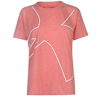 Under Armour Triblend Graphic Womens Sports Fitness Training T-Shirt Pink