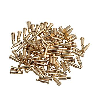 Copper Current Pogo Pins Probe Golden 2mm Dia 6mm Height Pack of 100