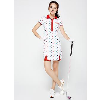 Fitness Lady Tennis Slim Sportkleding. White Love Moisture Wicking Golf / tennis