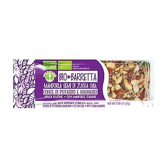 Organic almond chia seed bar 25 g
