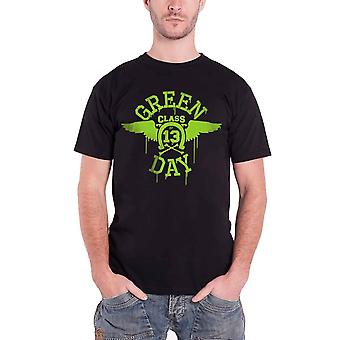 Green Day T Shirt Neon Wings band logo Official Mens Black