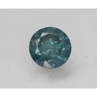 Cert 3.37 Carat Vivid Blue SI1 Round Brilliant Enhanced Natural Diamond 9.09mm