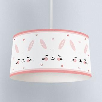 Child Bedroom Pendant Lamp Chandelier Cute Rabbit Pattern-lampshade Chandelier
