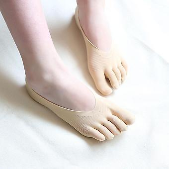 Moda donna Five Toe Sock Pantofole Invisibilità Cinque Dita Calzini