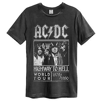 Amplified ACDC Highway To Hell Poster Men's T-Shirt