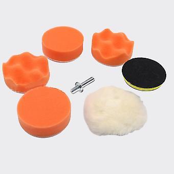 3inch Car waxing beauty polishing wheel polishing machine plane wave sponge disc
