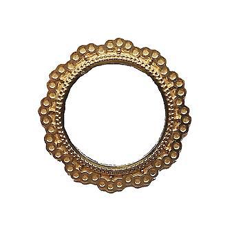 Dolls House pyöreä peili kultakehyksessä Miniatyyri 1:12 Lisävaruste