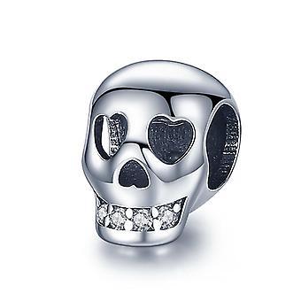 Heart Bear Pärlor 925 Sterling Silver Armband Jewlelry