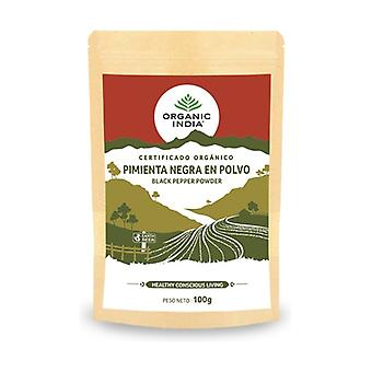 Organic black pepper powder 100 g of powder