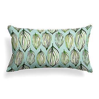 "Peas In A Pod Printed Woven Lumbar Pillow 22"" X 12"""