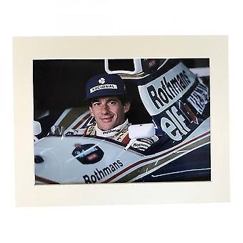 Larrini Senna In Rothmans Williams A4 Mounted Photo