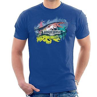 Jurassic Park Mosasaurus Pinsel Strich Montage Men's T-Shirt