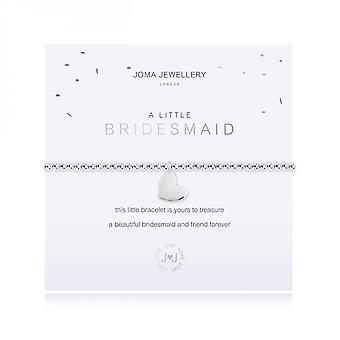 Joma Sieraden Een klein bruidsmeisje Zilver 17,5 cm stretcharmband 3619