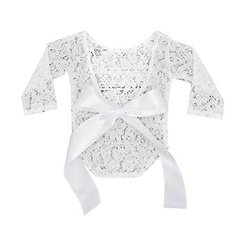 Adjustable Lace Rombers With Bow For Newborn-photography Props