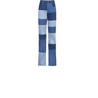 Patchwork Raka Kvinnor's Jeans