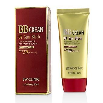 3W klinik UV solskydd BB Cream SPF50 + PA +++ 50ml/1,76 oz