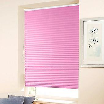 Self-adhesive Pleated Blinds Curtains Half Blackout Windows For Bathroom