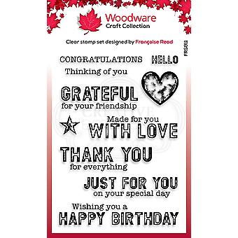 Woodware Francoise Read Made for You 4 in x 6 in Clear Stamp