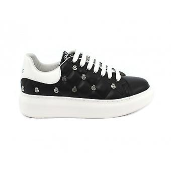 Women's Sneakers With Zeppa Gaëlle In Black Quilted Faux Leather Ds21ge01 Gbds2257