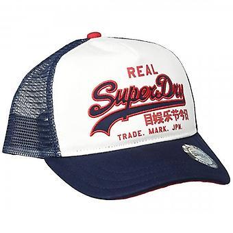 Superdry Vintage Logo Trucker Snapback Korkki Valkoinen 04C