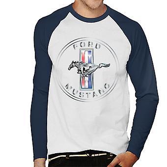 Ford Mustang Emblem Camiseta de manga larga de béisbol para hombres
