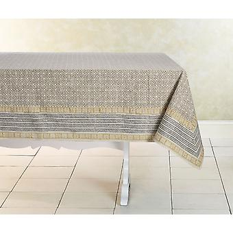 Spura Casero Hecho India Oriental Delight Vista Cotton TableCloth 5'x5'