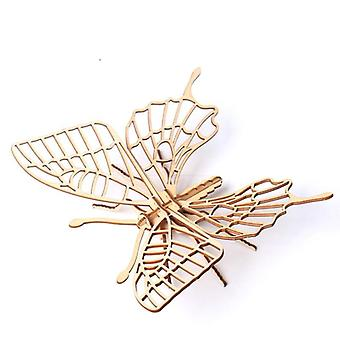Bebé Montessori 3d Rompecabezas Diy Jigsaw Tabla De madera Insecto
