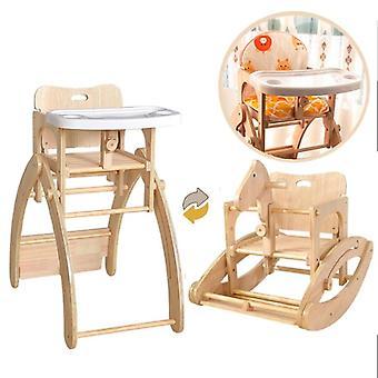 متعدد الوظائف الصلبة الخشب طاولة الطعام الطفل كرسي الطعام