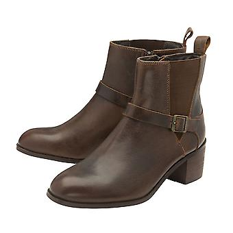 Ravel UK Ladies Women Brown Colour Kingsley Leather Heeled Ankle Boots
