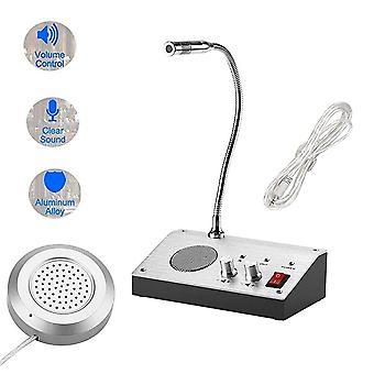 Dual Channel Intercom, External Speaker, Window Counter System, Bank, Office