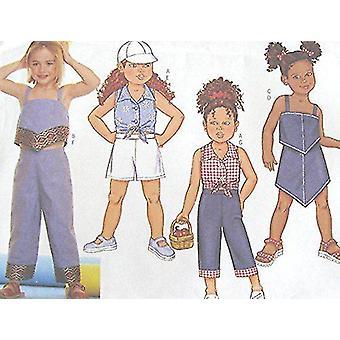 Butterick نمط الخياطة 3147 الطفلات الفتيات أعلى تنورة السراويل حجم السراويل 2-5