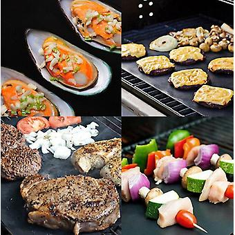 Non-stick Bbq Grill Barbecue Baking Pad Reusable Cooking Plate