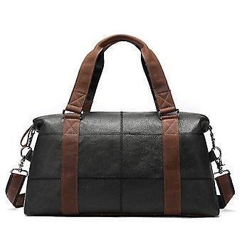 Mva äkta läder män & reseväska vintage duffle väskor stor kapacitet väska manliga budbärarväska män handväskor helgen duffle 9527