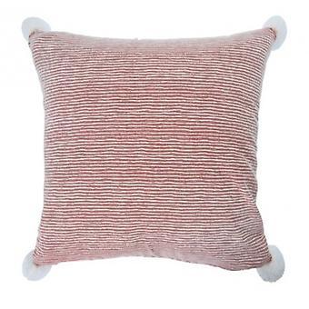 pillow striped 45 x 45 cm textile red/white