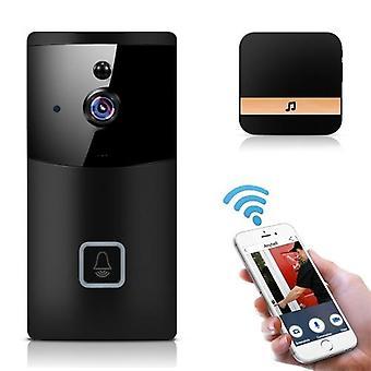 Smart Wireless 2.4G WiFi Türklingel, 1080P HD WiFi Sicherheitskamera mit Zwei-Wege-Audio