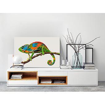 Pintura de tela DIY - Camaleão-60x40