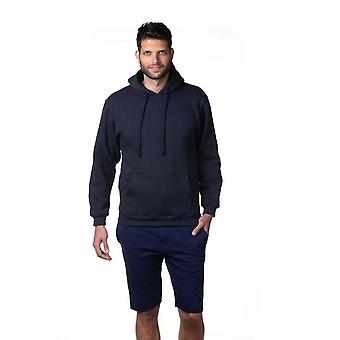 Classic Men's Pullover Hooded Sweatshirt Heavyweight Fleece Hoodie