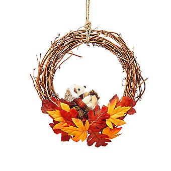 Sass & Belle Hedgehog Christmas Wreath