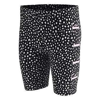 Elle Spot Printed Junior Girls Kids Fitness Cycle Short Black/Pink