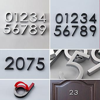 Self Adhesive Modern Door Number Plaque Plate, House, Hotel, Address Digits